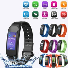 C1 Plus Smart Wristband,Multifunction Smart Band Bluetooth Step Counter Heart Rate Monitoring Sports Smart Wristband цена 2017