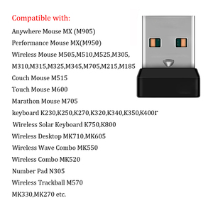 Image 4 - אלחוטי Dongle מקלט מאחד USB מתאם עבור עכבר מקלדת להתחבר 6 מכשיר עבור MX M905 M950 M505 M510 M525 וכו