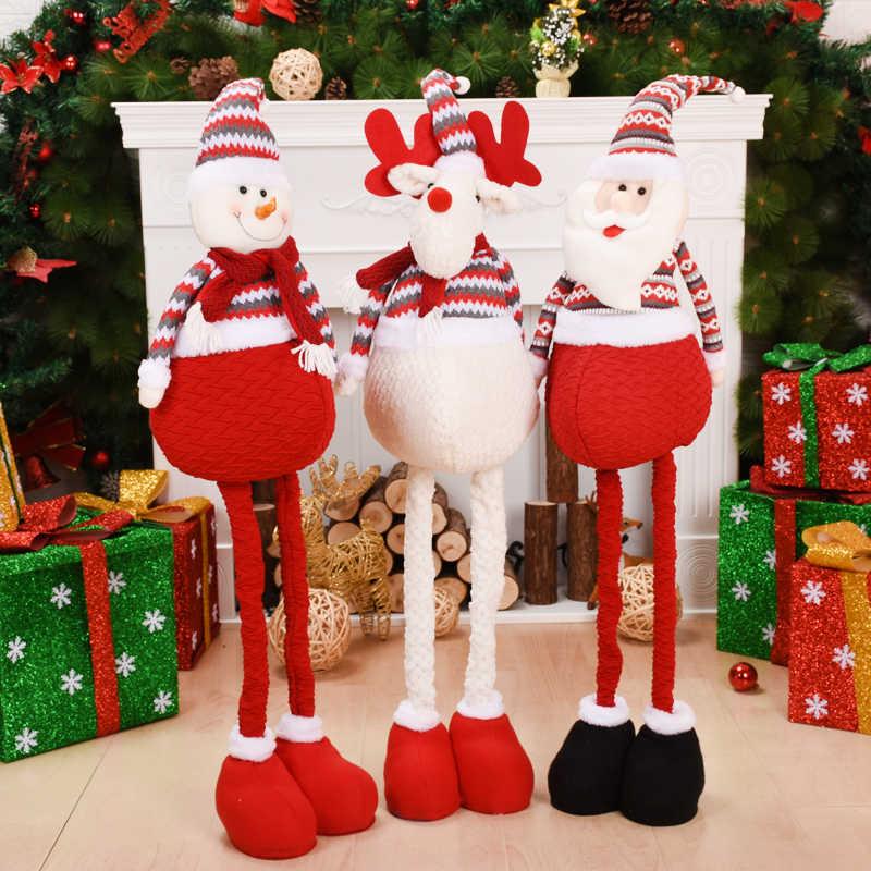 Decorazioni di natale per la Casa Allungabile In Piedi 38-55cm Pupazzo di Neve Bambole Nuovo Anno Regalo Di Compleanno del Giocattolo Della Peluche di Natale Decor ornamenti