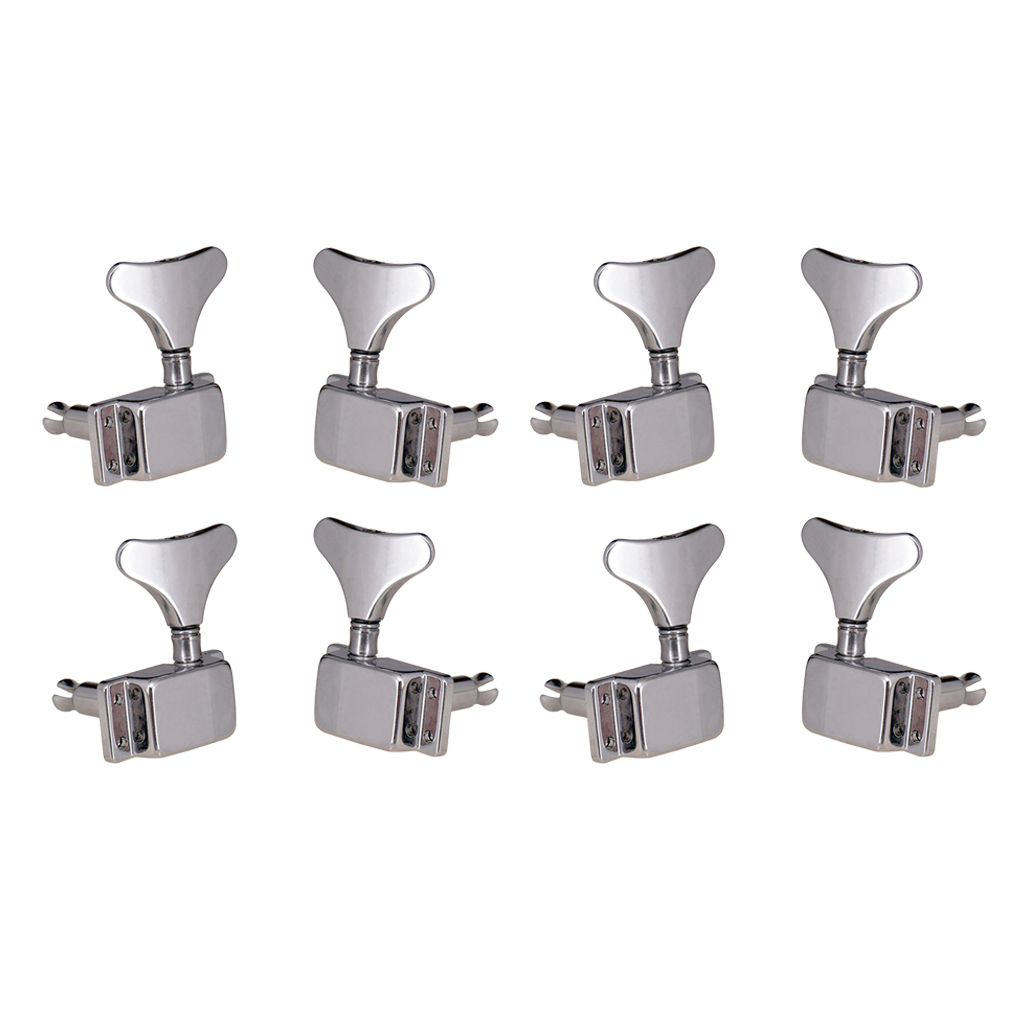 8pcs 4L4R Bass Tuners Tuning Pegs Machine Heads for Electric Guitar Bass Parts Accessories