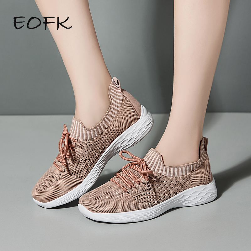 EOFK Women Sneakers Shoes Woman Socks Spring Autumn Lightweight Fabric Casual Shoes Walking Comfortable Ladies Female Chaussures