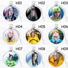 Men Woman Billie Eilish Pendant Necklace Bead Chain Time Gem Jewelry Billie Eilish Necklace Fans Gifts Hot Kolye(China)