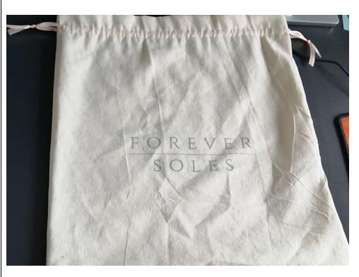 500 Pcs 33*36cm Cotton Bag  Like The Last Order With New Grey Logo And Peach Ribbon