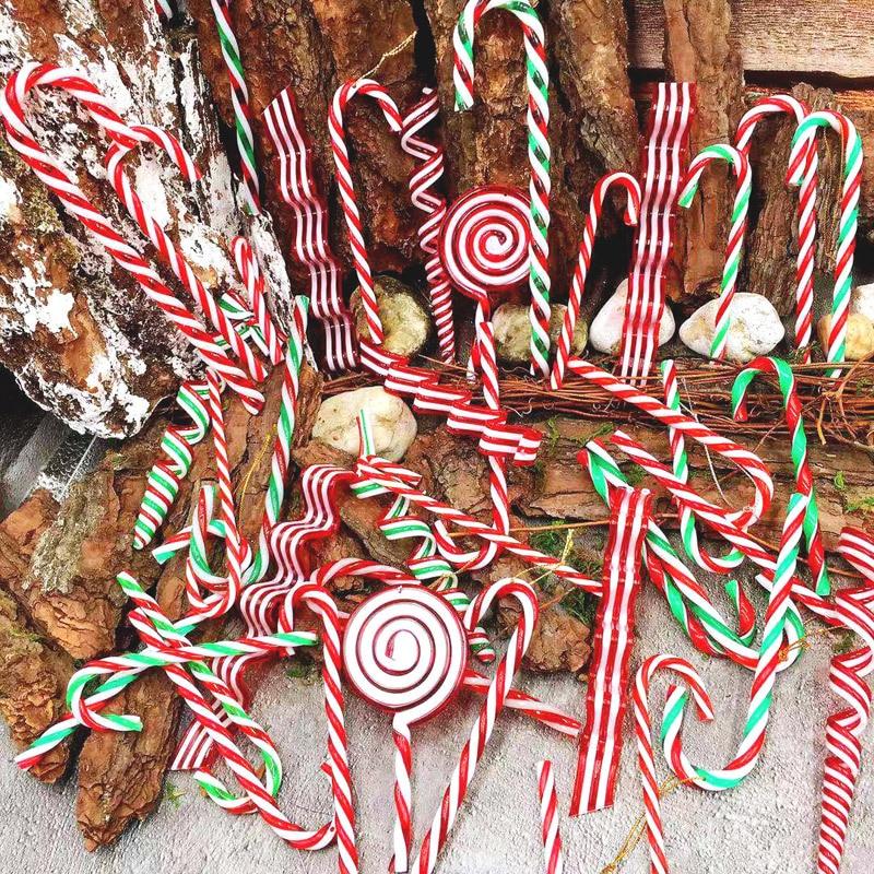 Christmas Decorations Plastic Candy Cane Christmas Colorful Bigger Crutches Christmas Gift 2020 New Year Christmas Pendant Good