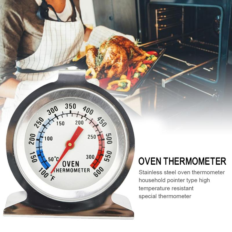 50 - 300℃ Stainless Steel Food Thermometer Kitchen  Cooking Seat Thermometer BBQ Oven Precision Dial Cooking  Measuring Tools