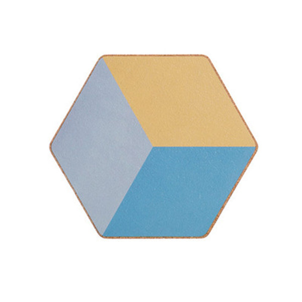 Creative Geometric Coaster Soft Wooden Placemat Candy Colorful Table Mat Insulation Anti-hot Pot Bowl Mat Plate Kitchen Decor
