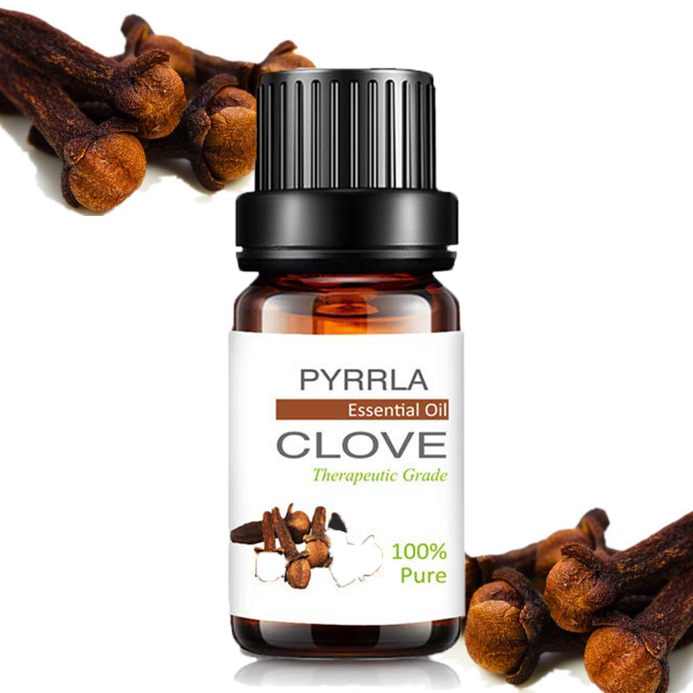 Pyrrla 10ml Clove Pure Essential Oils For Aromatherapy Air Fresh Refreshing Humidifier Diffuser Massage Essential Oil Lavender
