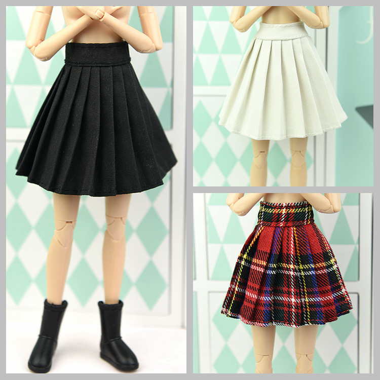 Short Skirt / White & Black & Colorised Autumn Wear Clothing For 1/6 BJD Xinyi Barbie Blythe FR ST Doll Xmas