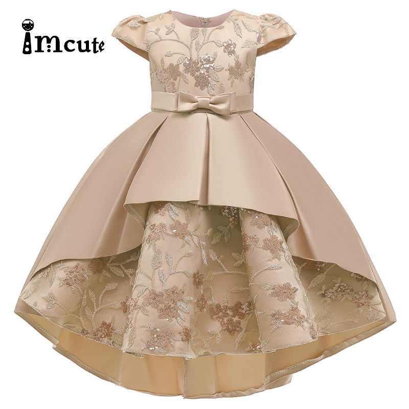 Flower Vintage Embroidery Baby Girls Dress Opening Ceremony Clothing Tutu Party Elegant Wear Girls Princess Dress Kids Vestidos 1