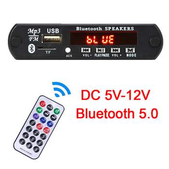 Bluetooth5.0 MP3 Decoding Board Module Wireless Car USB MP3 Player TF Card Slot / USB / FM Radio / Remote Decoding Board Module image