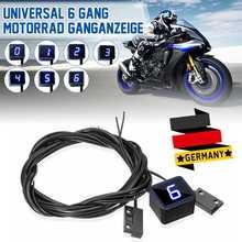 Универсальный индикатор шестерни для мотоцикла с ЖК-дисплеем 1-6 уровня, цифровой индикатор шестерни для Suzuki GSX-R1000 GSX1400 SV650 SV1000