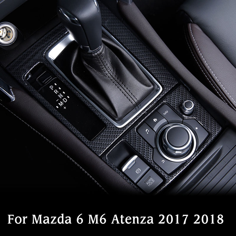 Black Titanium Gear Shift Frame Cover Trim Fits Mazda 6 M6 Atenza 2017-18 New
