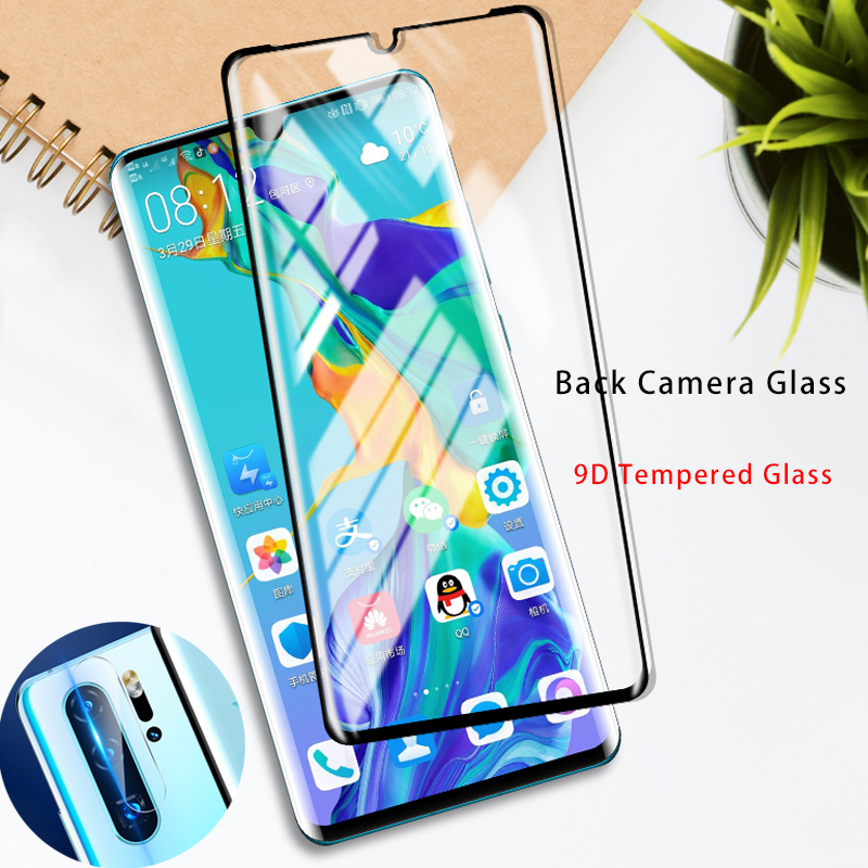 2 In 1 9D Protective Tempered Glass For Huawei Y6 Pro 2019 Y7 Y5 2018 Screen Protector Back Camera Lens Film For Huawei Y9 2019