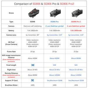 Image 3 - SG906 GPS 드론 4K 5G 와이파이 캠 SG906 프로 Pro2 듀얼 카메라 드론 profissional 2 3 축 안정제 카메라 Quadrocopter Dron