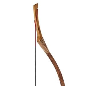 Image 3 - Huntingdoor Geleneksel Olimpik Yay Okçuluk Avcılık El Yapımı Longbow kahverengi deri Açık Çekim Moğol At Yay dizeleri