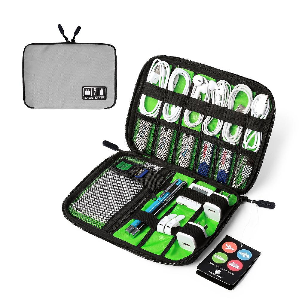 Travel Portable Cable Organizer System Kit Case USB Data Cable Earphone Wire Pen Power Bank Storage Bags Digital Gadget Devices