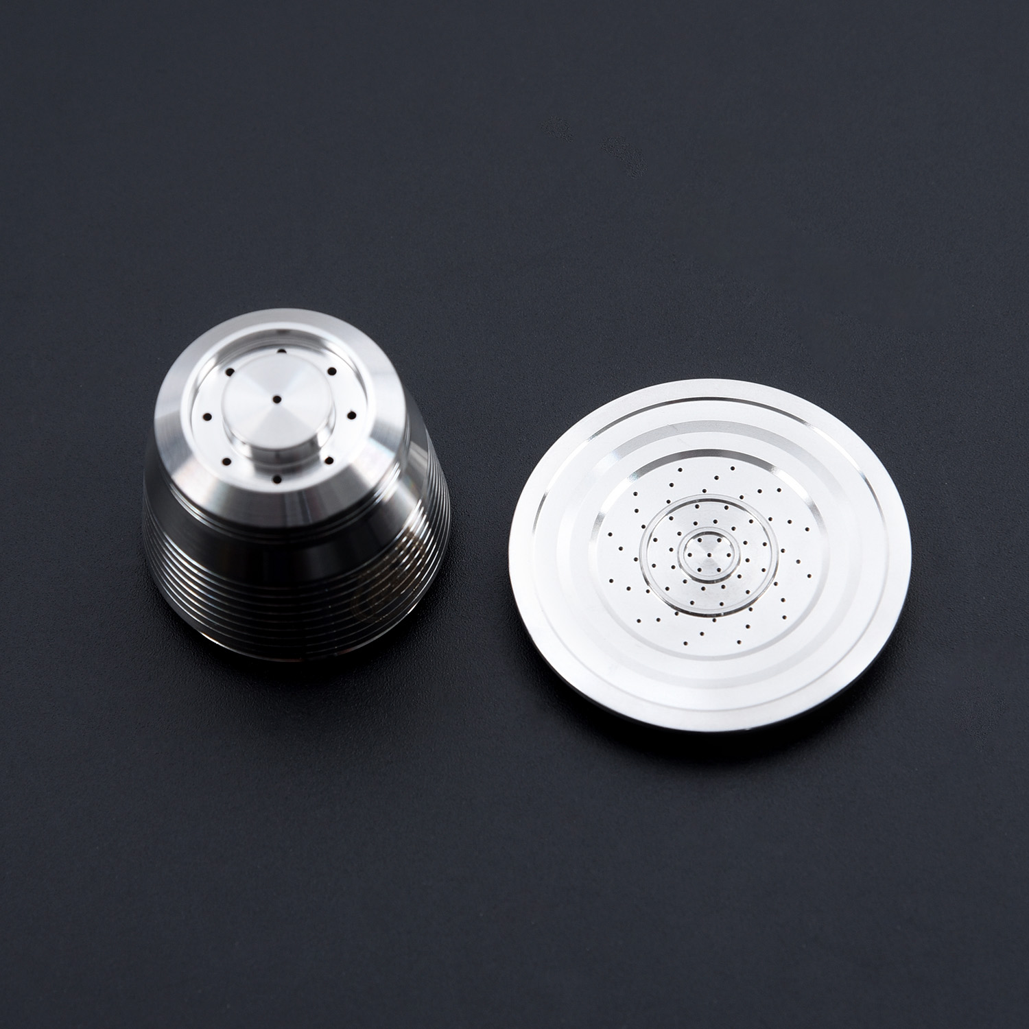 Metal Nespresso Refillable Upgrade Round Cafe Dripper Stainless Steel Empty Capsule Reusable Coffee Filter Coffeware Sets