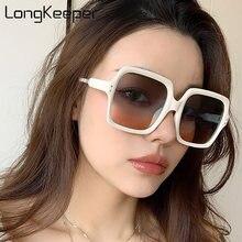 Винтажные большие квадратные солнцезащитные очки женские роскошные