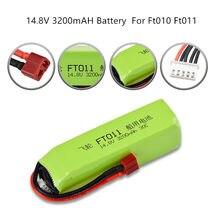 Mise à niveau 14.8v 3200mah 4s 30c Lipo Batterie Pour Ft010 Ft011 Bateau Rc Hélicoptère Avion Voiture Pièce de rechange 14.8v Batterie 1 pièces