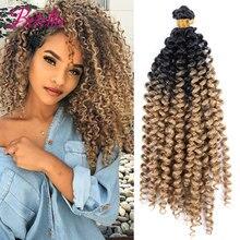 Betella Afro Curls Hair Extensions Curly Bundles Hair Synthetic 1B 613 Bundles Blonde Bundles Ombre Bundles Kinky Curly Weave