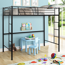 Furnitures Slats-Beds Bedroom-Set Loft Modern Kid Bed Metal Single-Layer Home Dormitory