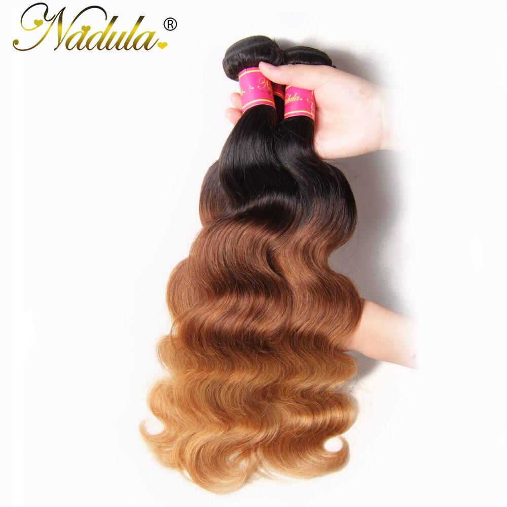 Nadula Hair  Body Wave  Bundles 1B-4-27 Ombre  Hair s Body Wave Ombre Hair Bundles 2