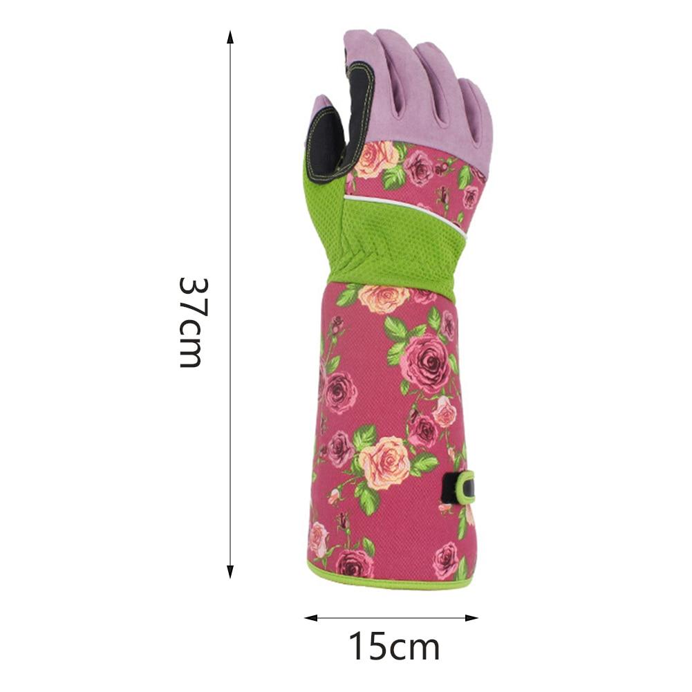 1 пара, аксессуары для защиты запястья, с длинным рукавом, защита от ударов, Холодостойкие перчатки, садоводство, рабочая печать, посадка