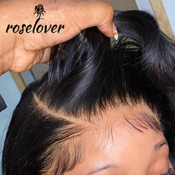 13*6 HD Spitze Frontal Perücken Körper Welle Natürliche Farbe Transparent Spitze PrePlucked Gefälschte Kopfhaut Kappe Brasilianische Remy Menschlichen haar Perücken