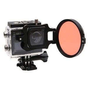 Image 3 - 58mm 16x grossissement HD Macro objectif + filtre rouge 58mm adaptateur anneau capuchon dobjectif pour SJ6 Legend Gopro 3 4 accessoires de photographie