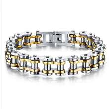 Men Jewelry Titanium steel Rock Locomotive chain bracelet so165