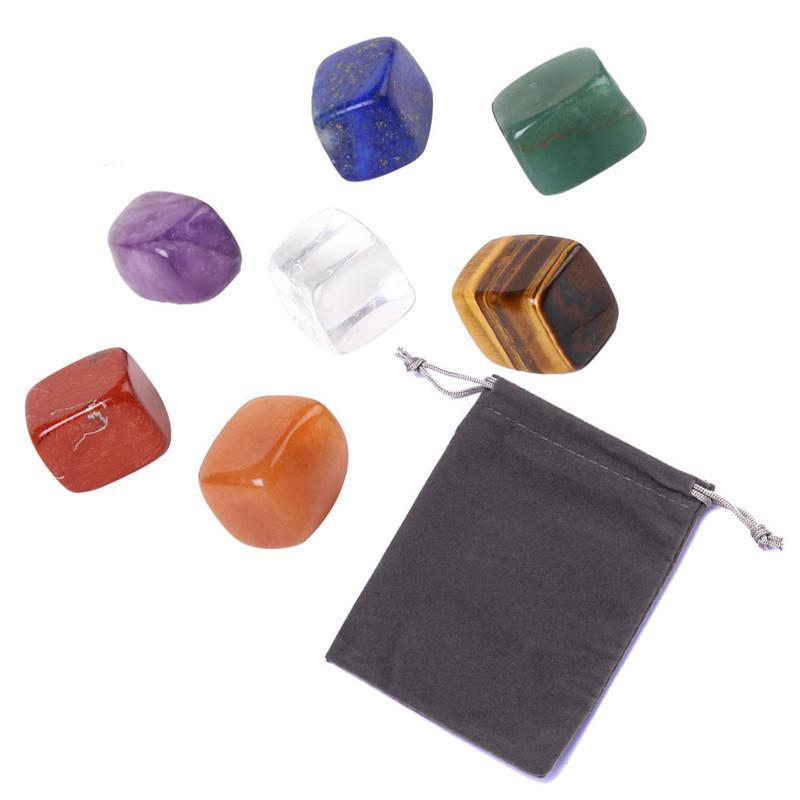 Natural 7 Colors/Set Yoga Energy Stone Chakra Stone Irregular Reiki Healing Crystals Stone Polished Individual Stones
