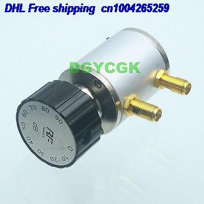DHL 5pcs ADJ Variable Step Attenuator SMA Female 2W 0-90dBi 90DB DC-6GHZ 50ohm RF 9-key Attenuator 22ra