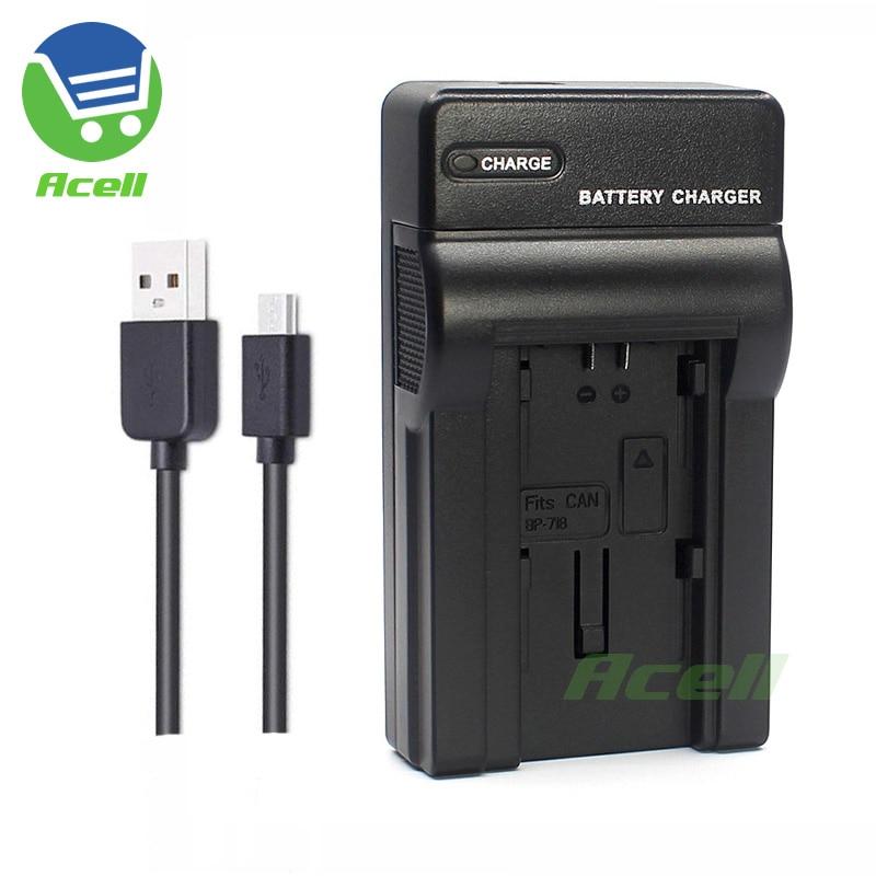 BP-709 BP-718 BP-727 USB Charger For Canon LEGRIA HF R86 R806 R76 R706 R66 R47 R48 R406 R36 R38 R506 Camcorder Replace CG-700