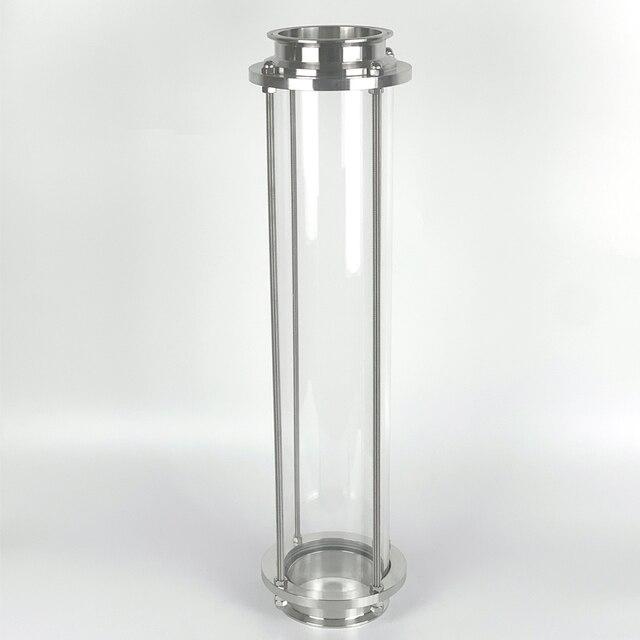 "Clamp 3 ""OD91mm Glas Spool Rohr L = 600mm. Lange Dioptrien, Anblick Glas Turm"