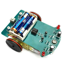 Competition Motor Electronics Toy Car Smart Kids DIY Soldering Project Tracking