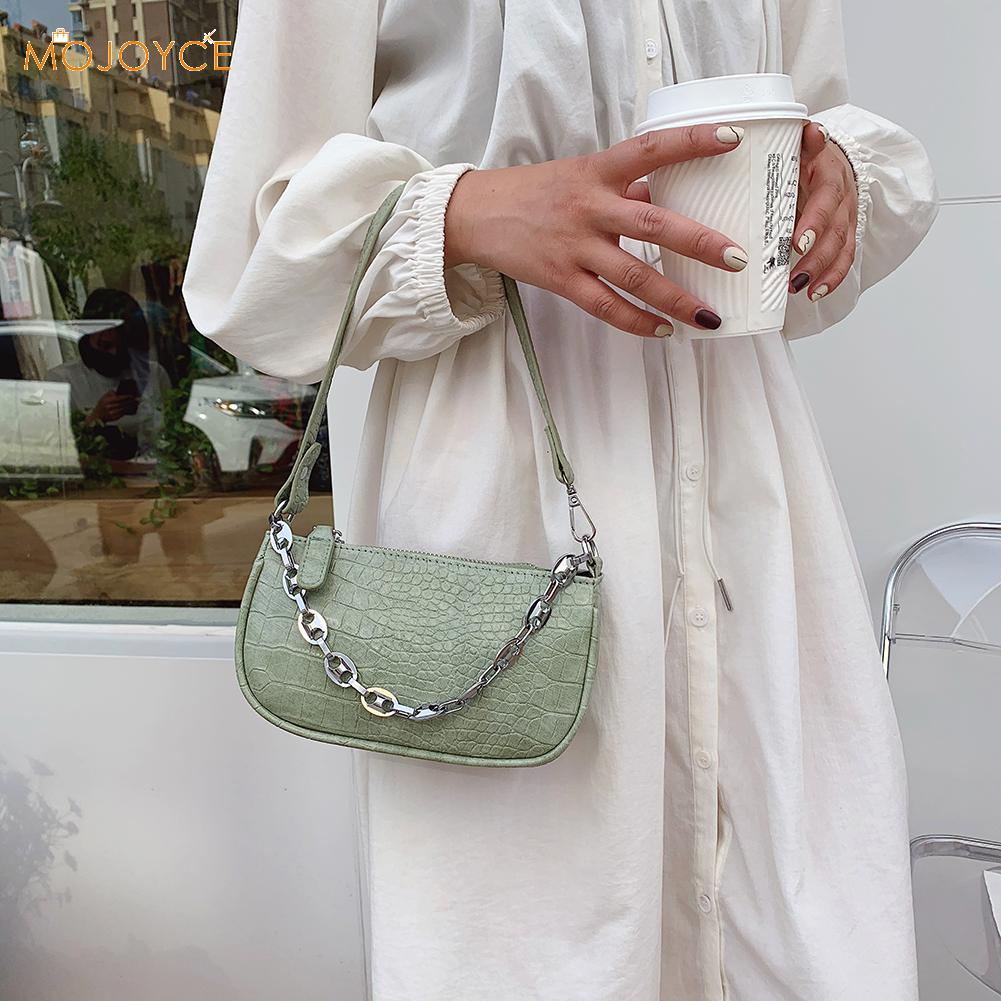 Pattern Women Shoulder Totes Bags Clutch Handbag Solid PU Leather Chain For Outdoor Shopping Traveling Decoration