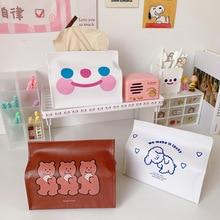 Tissue-Case-Box Cookie Bentoy Milkjoy Cute Table-Decoration Desktop Cartoon-Bear PU Girls