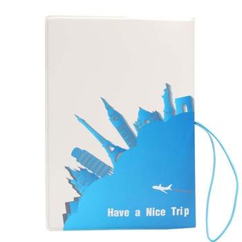 60PCS / LOT Fashion Travel Passport Covers PVC Leather Women Men Passport Credit Holder Bag Case Wallet Purse