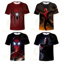 Movie Spider-Man Far From Home 3d Print Summer T-shirt Kids Summer T Shirt Youth Boys Girl Tshirt Casual Top Tee Clothing marvel comics ant man logo mens black t shirt superhero antman print t shirt men summer style fashion top tee