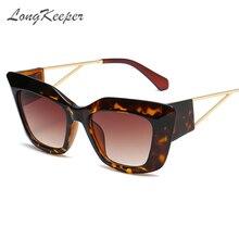 Фирма longkeeper солнцезащитные очки кошачий глаз в толстой