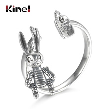Kinel 100% Real 925 Sterling Silver Rings Fine Jewelry Korean Style Finger Animal Ring For Women Wedding Band Gift