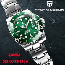 PAGANI DESIGN-reloj mecánico automático de lujo para hombre, de acero inoxidable, resistente al agua, de precisión, masculino, NH35, 2021