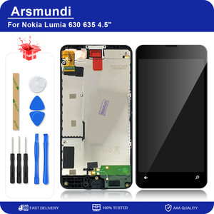 """Image 1 - Nokia Lumia 630 635 için RM 977 RM 978 4.5 """"LCD ekran dokunmatik ekran Digitizer meclisi ile çerçeve Microsoft 630 için lcd + hediye"""