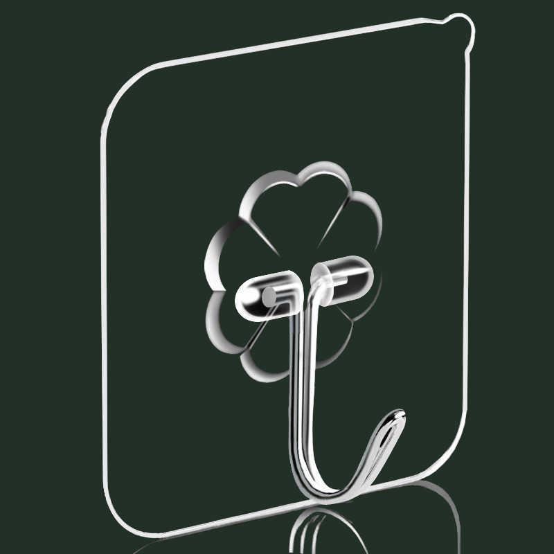1pc 壁フック見えない透明吸盤吸盤壁ハンガーキッチン浴室粘着フック漫画粘着フック