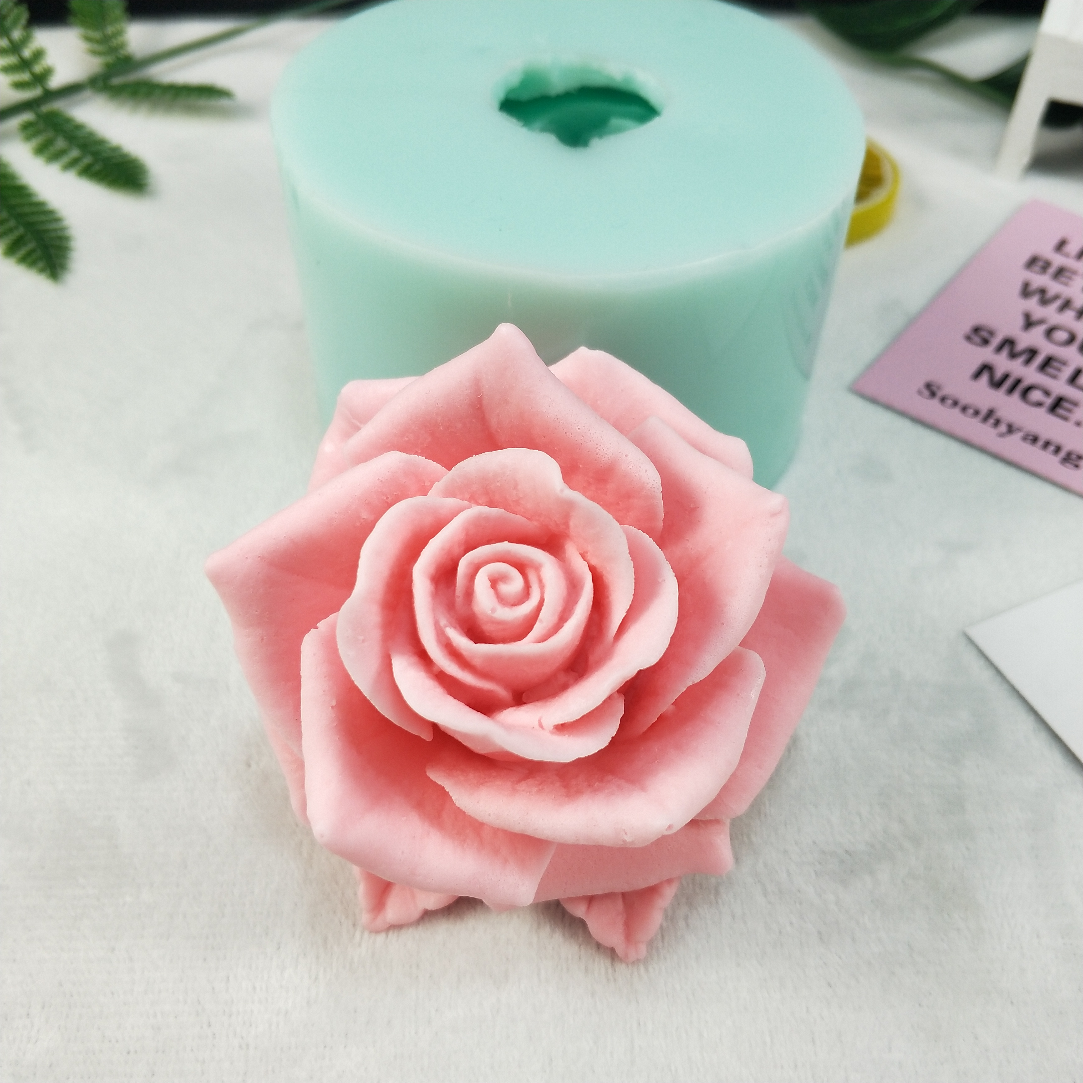 3D beautiful flower rose Silicone Mold Bouquet of roses Soap Molds Clay Resin Gypsum Chocolate Candle Mold