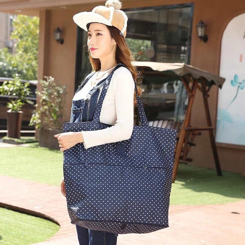 High Capacity Folding Shipping Bag Travel Portable  Handbag Women's Storage Organizer Shoulder Bags Accessories Supplies Product