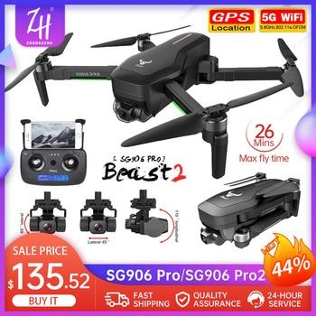 Dron SG906 PRO/PRO2 RC 4K, 5G, WIFI, cardán de 3 ejes, FPV,...
