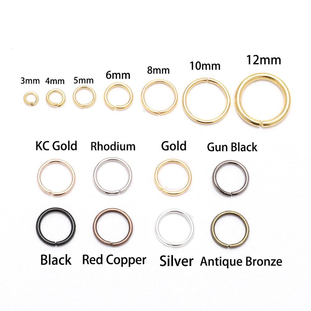 St.kunkka 200pcs/bag 4 5 6 8 10 mm OPen Jump Rings Gold/Bronze Split Rings Connectors For Diy Jewelry Finding Making Bulk(China)