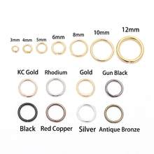 St.kunkka 200pcs/bag 4 5 6 8 10 mm OPen Jump Rings Silver/Gold/Bronze Split Rings Connectors For Diy Jewelry Finding Making Bulk(China)