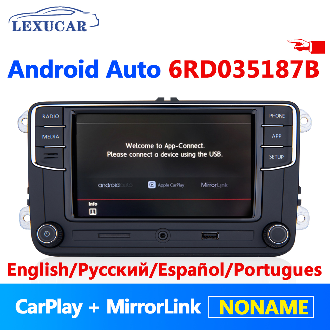 <font><b>RCD330</b></font> Plus RCD330G Android Auto Carplay <font><b>Noname</b></font> 6RD 035 187B MIB Car Radio For VW Golf 5 6 Jetta MK5 MK6 CC Tiguan Passat Polo image